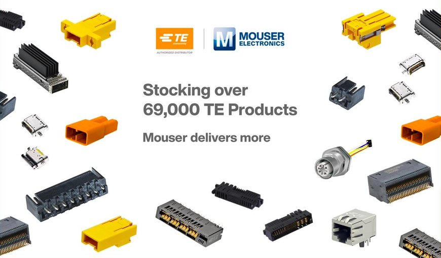 Mouser Electronics Stocking Wide Portfolio of TE Connectivity Solutions