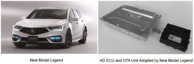 AD ECU and OTA Unit Adopted in New Model Legend Capable of Over-the-Air (OTA) Vehicle Control Software Updating